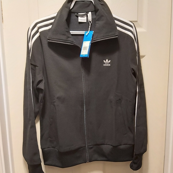 NWT Adidas women tracktop outerwear black large